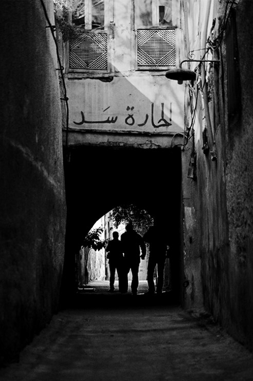 "Alley of Hammam Al-Wared is one of the streets of Sarooja area, someone wrote on its walls ""The Street is Closed"". Damascus 2010-01-05"