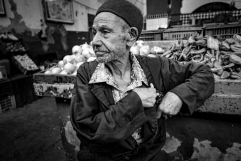 Peppers Seller Mahdia, Tunisia