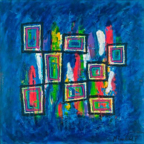 Abstract Colors IV Acrylic on canvas