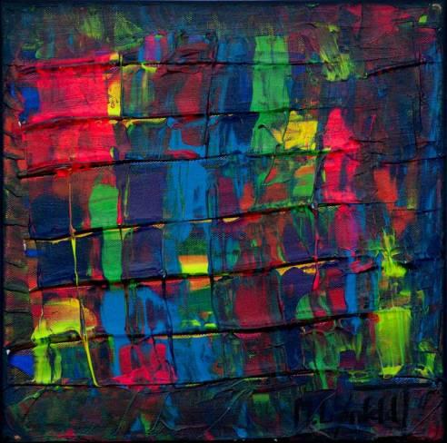 Mini Abstracts III Acrylic on canvas