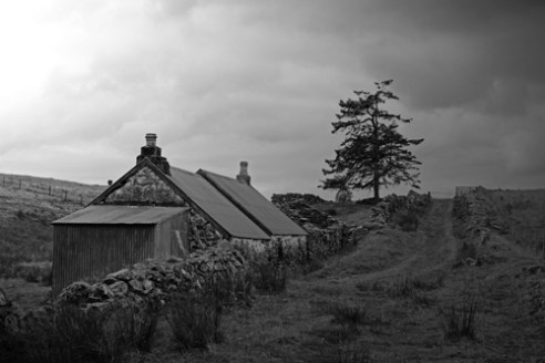 'Long abandoned'. An abandoned croft at Balnreich, Perthshire. Up until the early 1800's a collection of crofts here would have been home to around 30 people, now there are none.