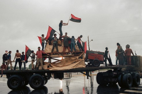 Parade to celebrate the 6th Anniversary of the Revolution.