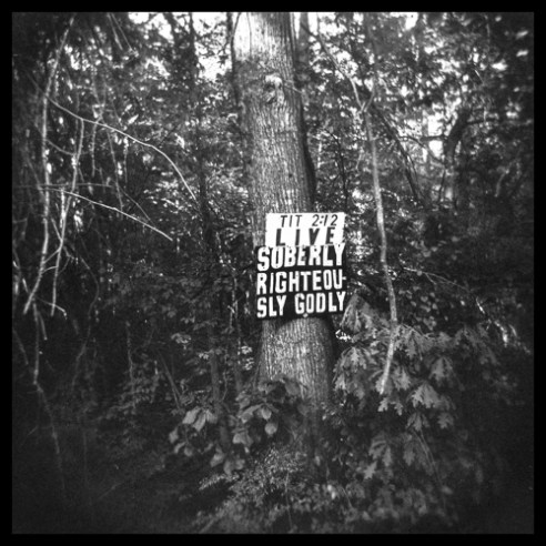 Live soberly, Handpainted sign Hywy 27 N