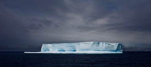 Blue Tabular Iceberg Antarctic Sound Antartic February 2010