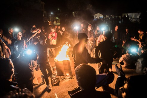 """Souda Refugee Camp, Chios - Greece. 