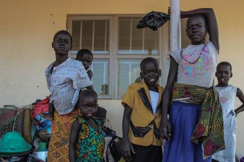 Girls await relocation onto proper settlements at Elegy Reception Center.