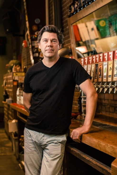 Durham, North Carolina - Thursday August 18, 2016 -Sean Lilly Wilson is the owner of Fullsteam Brewery in Durham, North Carolina and a key player in the Pop The Cap legislation.