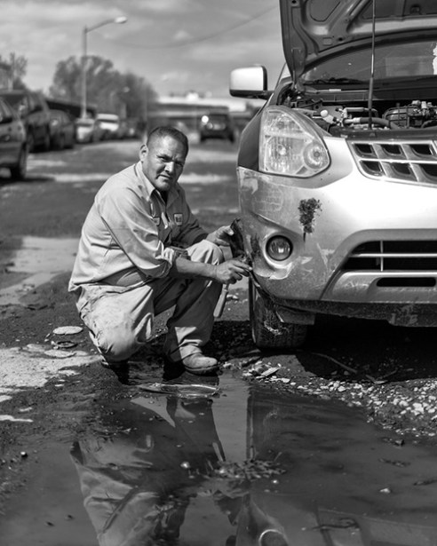 Rick A long time mechanic who worked in Willets Point with his sister who sells food and drinks to workers.