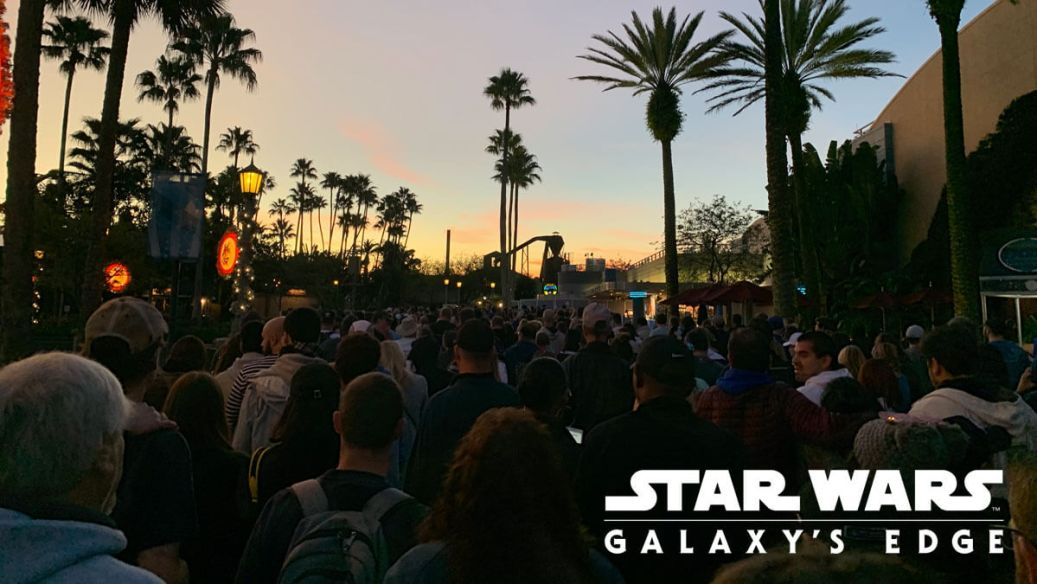 Crowd at Hollywood Studios waits for Galaxy's Edge to open