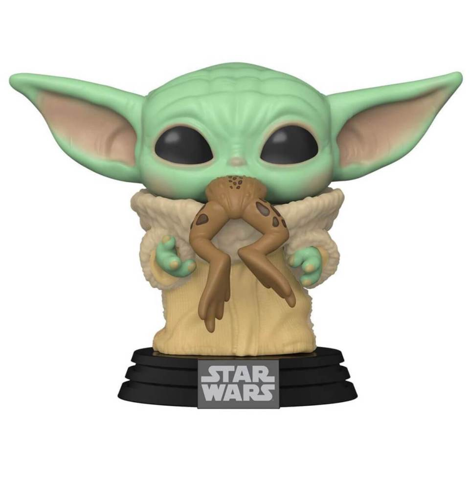 Baby Yoda POP with frog