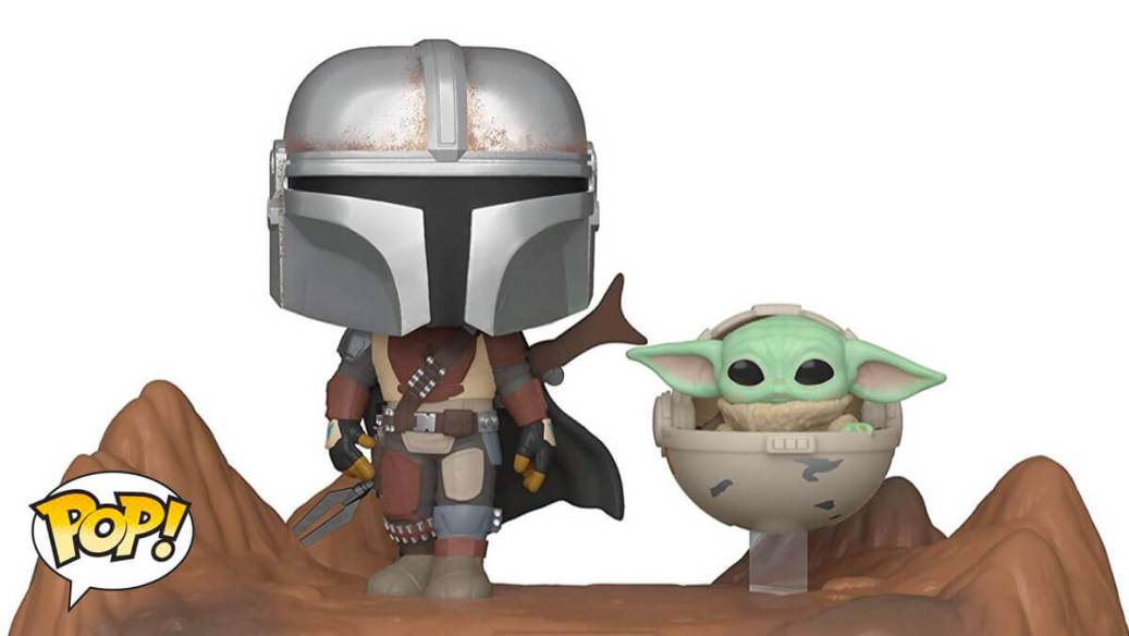 Funko POP of The Mandalorian and Baby Yoda