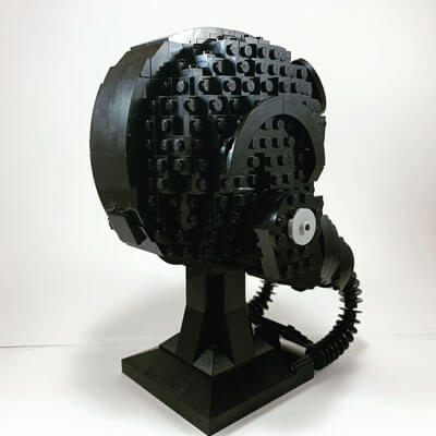 LEGO TIE Fighter Pilot Helmet from the back & right