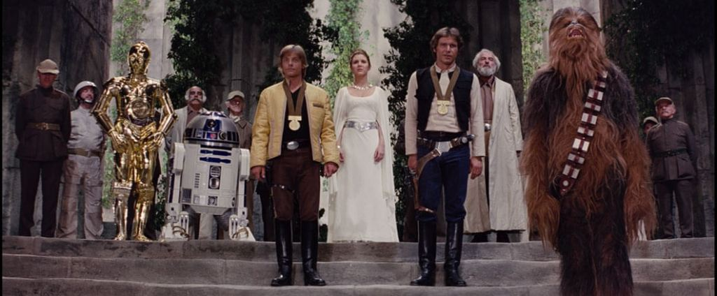 The medal ceremony after the Battle of Yavin