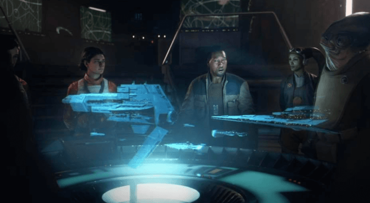 Star Wars Squadrons story trailer screen shot of Hera Syndulla