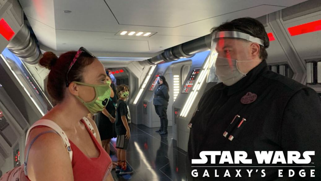 First Order Officer and Guest Have a Staring Contest