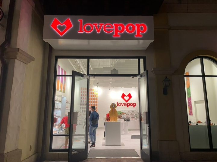 Lovepop opens at Disney Springs. This innovative store sells kirigami pop-up greeting cards.