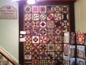 Quilter's General Store in Rockford.  Civil war blocks.