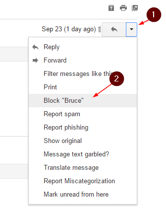 Gmail - block sender