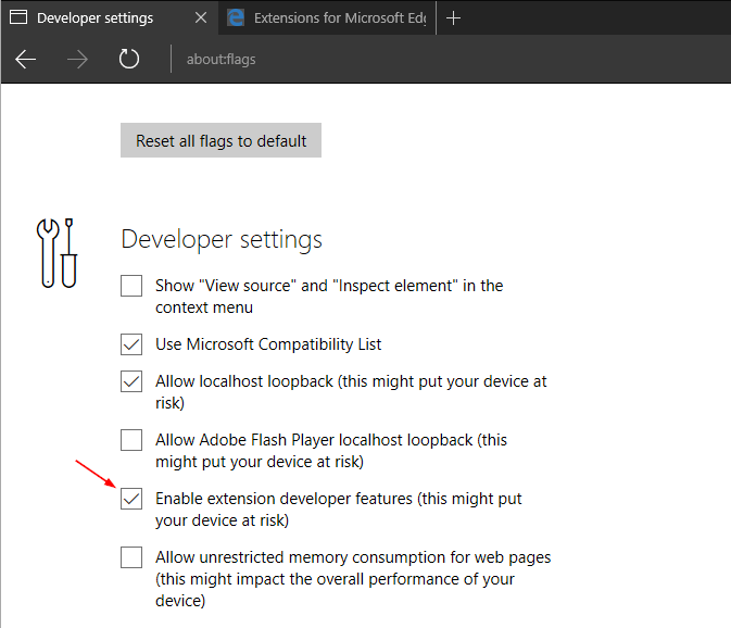 How To Enable Load Extension Button to Install Microsoft