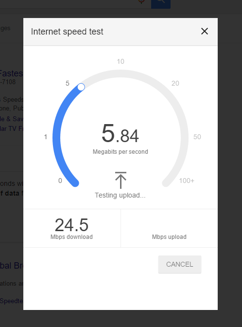 speed-test-in-process