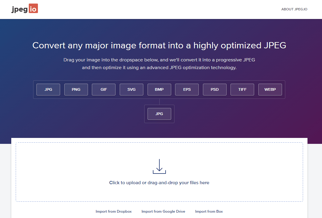 Jpeg Io Web App