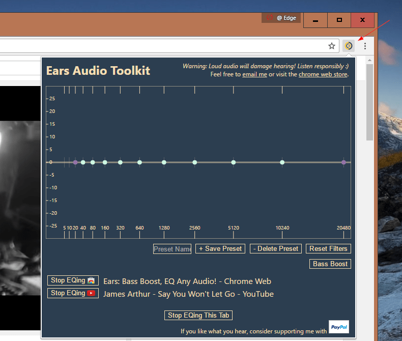 How To Add Music EQ Equalizer to All Tabs in Chrome - Edge Talk