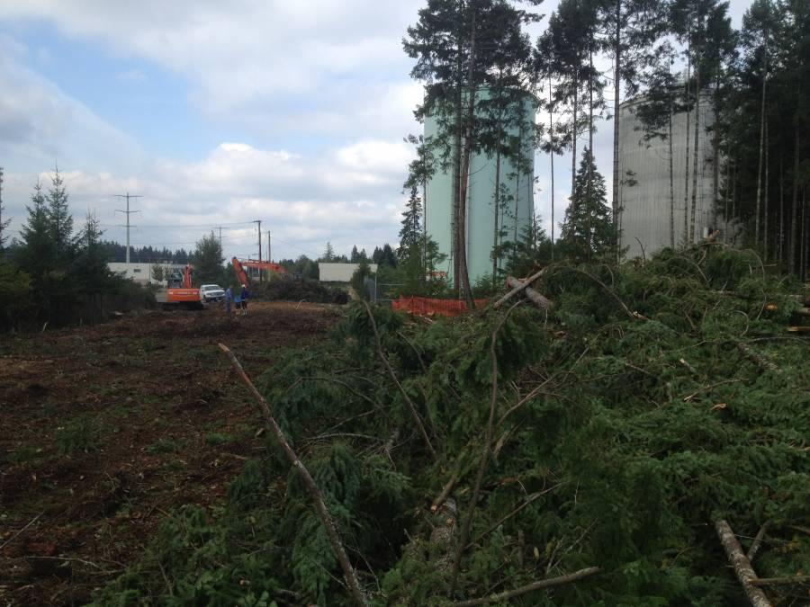 Proud to be clearing the way for the City of Courtenay's new fire training facility
