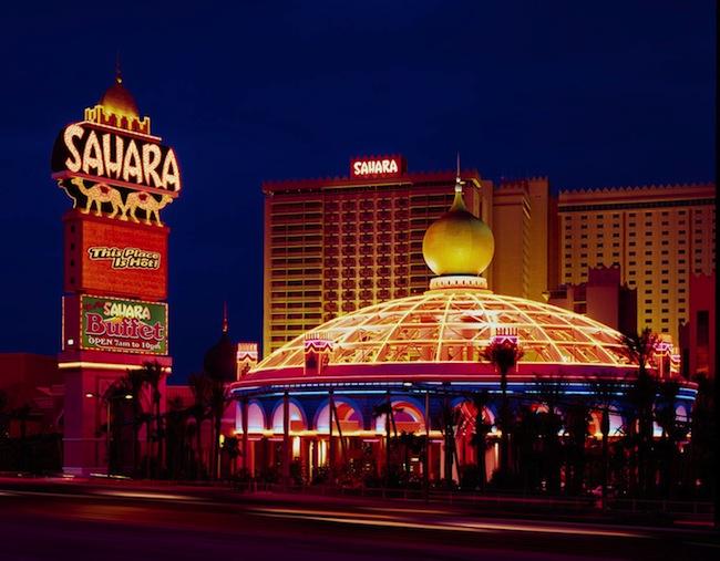 Sahara Las Vegas At Night