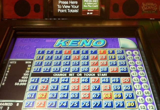 Video Keno Game At Red Rock Las Vegas