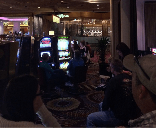 Line for Lions Share Slot Machine at MGM Grand