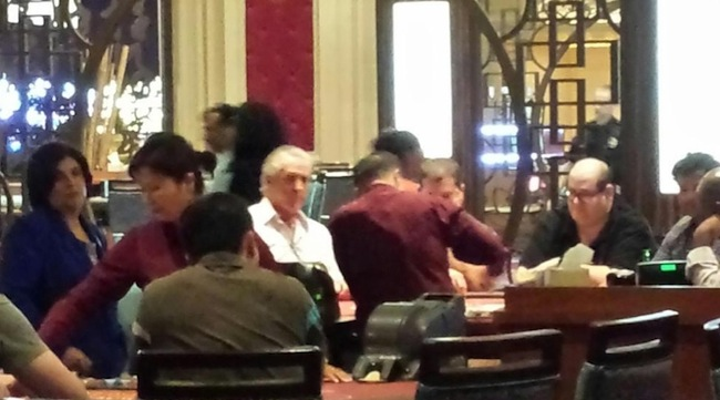 That's Pat Riley Playing Blackjack