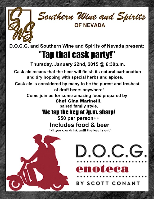 D.O.C.G. Cask Party at Cosmopolitan of Las Vegas