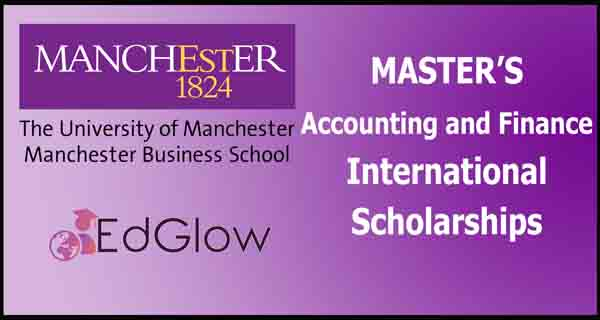 Master's Accounting and Finance international awards at Alliance Manchester Business School, UK