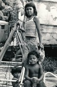 He`eia Kea children at the Viratua family business in He`eia Kea. 2897-1-37 6-21-75
