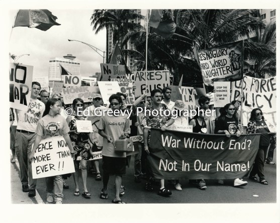 Not In Our Nameanti war march-demo to Waikiki.9116-4-45 3-15-03