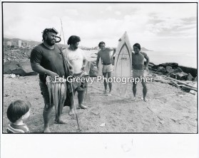 Sand Island Fisherman and Surfers 4090-2-6 11-10-1979