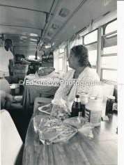 Sand Island resident in her converted bus.4090-1-11 11-10-79