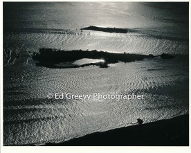 Mokauea sland from the air, showing newly built 2 acre fishpond4063 1980. _