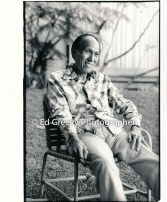 Dr. Kekuni Blaisdell at home. 7088-1-35 5-3-93