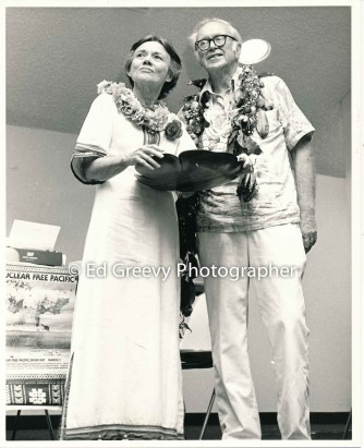 Hawaii political progressives, Bette and Walter Johnson 5066 5-1-82