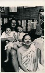 Imaikalani Kalahele at home with family. 5084-9-9 C1982