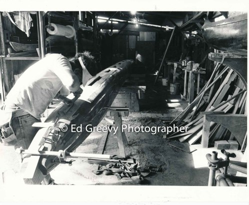 Koa canoe construction. C1972