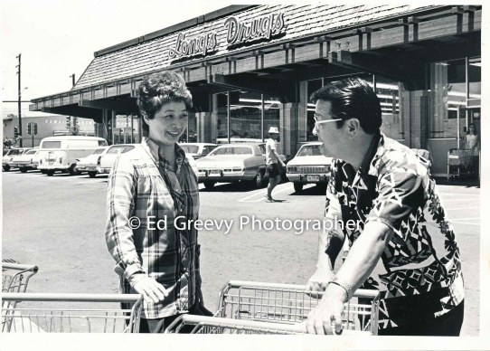 State House Representative Herb Segawa with supporter in Hilo 2698 C1972