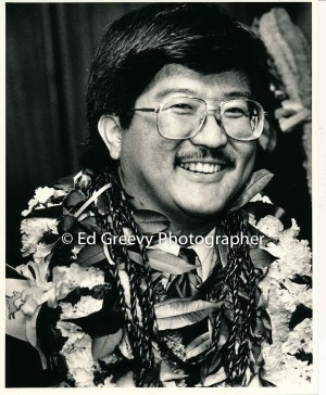 State House member, Roland Kotani on opening day. 6075 1-88