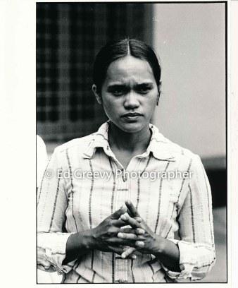 Terri Keko`olani at PKO second arraignment. 3088-2-9A 8-15-77