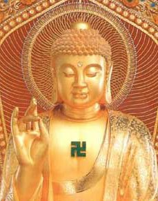 buddha swastika on chest