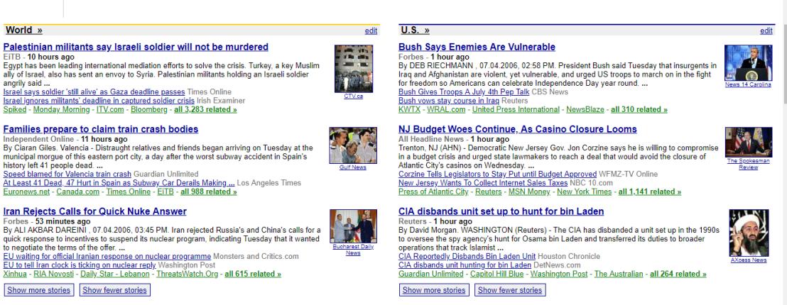 2006 Google News 2
