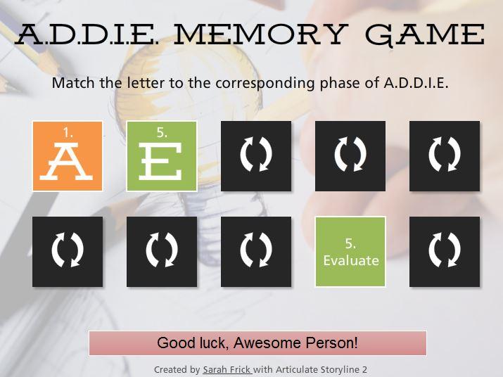 addie game