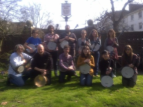Teaching banjo at Cecil Sharp House