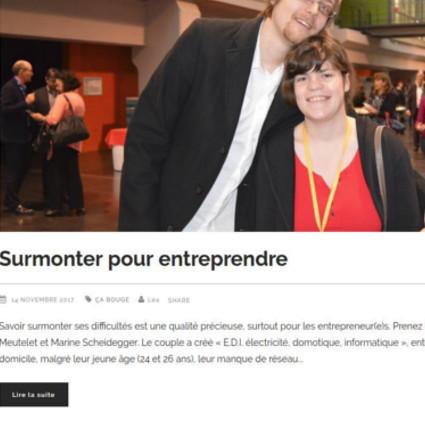Parution Webzine entrepreneurs alsace